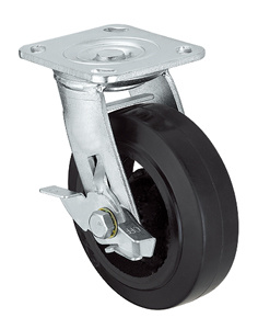 Heavy Duty Caster Series- 4in. W/Side Brake - Rubber Wheel pictures & photos