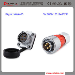 IP67 Waterproof 20mm 4 Pin Circular Connector pictures & photos