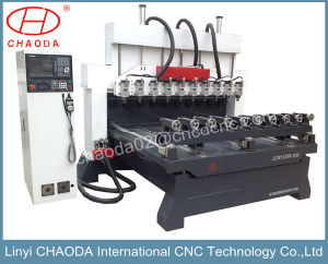 Multi Head Wood CNC Router for Furniture Legs Mass Production Jcw1325r-10h pictures & photos
