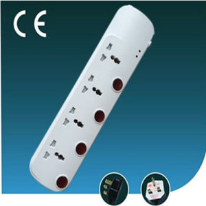 Universal Electrica Four Ways L Socket with Individual Switch