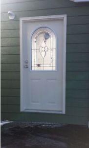 Fangda Brief Style Exterior Steel 9 Lite Glass Door pictures & photos