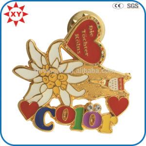 Free Mold Gift Item Enamel Metal Flower Lapel Pins pictures & photos