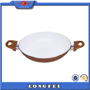 Not Easily Sticky White Coating Double Handle Fry Pan pictures & photos