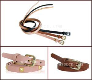 Lady′s PU Belt with Studs pictures & photos