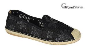 Women′s Espadrille Lace Flat Casual Ballet Shoes