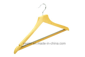 Luxury Bigger Shoulder Walnut Wooden Suit Clothes Hangers pictures & photos