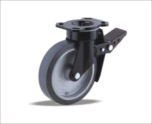 Best Selling Products Black PU Wheel Caster pictures & photos