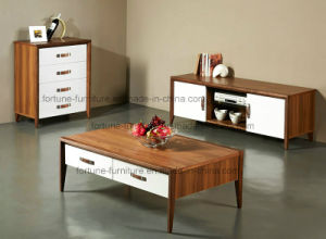 Modern Wooden Walnut & White Coffee Table (Camel 601) pictures & photos