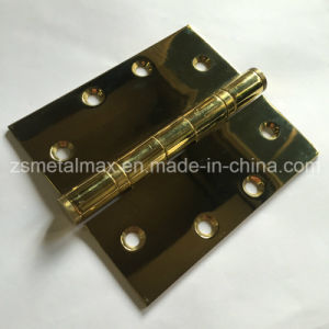 Stainless Steel 4.5 Inch 2 Ball Bearing Polished Brass Door Hinge (104540) pictures & photos