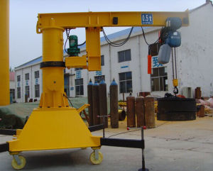 Bzy Type Movable Boom Crane with 360 Degree pictures & photos