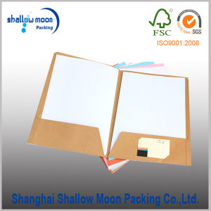 Customized Kraft Paper Clip File/Documents Folder with Pockets (QYCI15384) pictures & photos