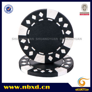 11.5g 2-Tone Diamond Suited ABS Poker Chip pictures & photos