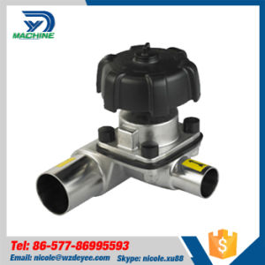 Stainless Steel Sanitary Welded 3-Way Diaphragm Valve (DY-V094) pictures & photos