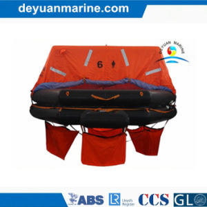 Solas Approved Life Rafts with 25 Persons Throw Over Board Inflatable Liferafts with Gl Class Approval Certificate pictures & photos