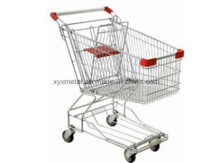 Supermarket Metal Shopping Trolley Cart Hand Trolley pictures & photos