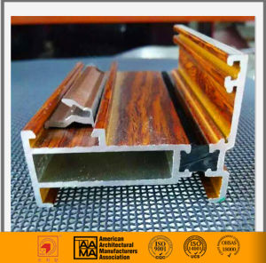 Wooden Grain Aluminum Extrusion Profile for Window and Door pictures & photos