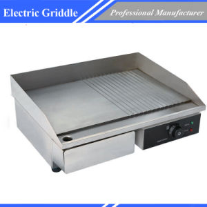 3kw Half-Ribbed Commercial Electric Griddle and Hotplate pictures & photos