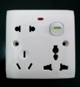 Good Price Small Button Multi Wall Switched Socket with Neon pictures & photos