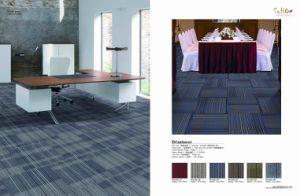 Flame Retardance Nylon Carpet Tile with PVC Backing pictures & photos