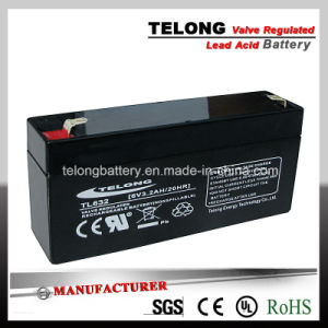 6V3.2ah Rechargeable Sealed Lead Acid Battery pictures & photos