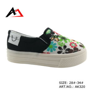 Leisure Injection Shoes Platform Printing Canvas for Women (AK320) pictures & photos