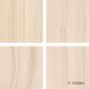 New Design Semi-Polished Marble Four Different Faces Porcelain Beige Floor Tile (600X600mm)