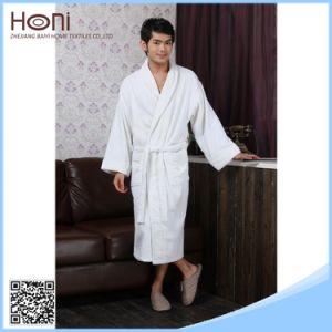 Plain Woven Men Cheap White Cotton Pakistani Bathrobe Hotel Bathrobe