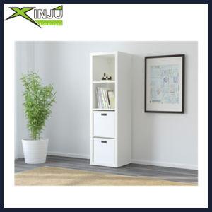 4-Tier Espresso Wood Display Media Cabinet Bookcase pictures & photos