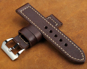 Pre-V Screw Bar Watch Buckle Leather Strap pictures & photos