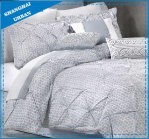 Gray DOT Pintuck Design Microfiber Comforter Home Textile pictures & photos