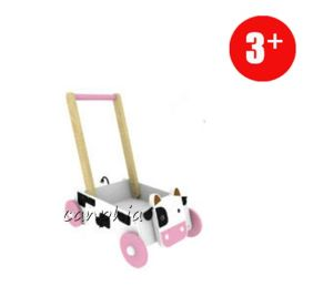 Colourful Cow Wooden Pull Along Toy, Best Selling Wooden Lion Toy with Blocks pictures & photos