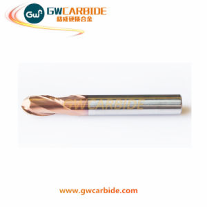 Carbide Flat Ball Nose End Mill 4 Flutes HRC 45 60 pictures & photos