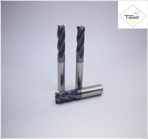 Cutoutil HRC45 Tialn Coating   D3.5*11*D4*50 2f/4f for Steel CNC Machining Part   Square  Carbide End Mills Tools pictures & photos