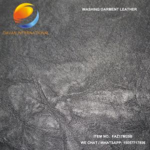 Embossed PU Coated Leather for Garment pictures & photos