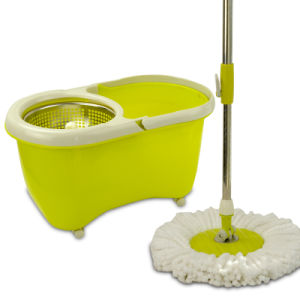 High Quality Portable Magic Spin Microfiber Mop pictures & photos