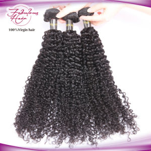 8A Indian Virgin Hair Kinky Curly Human Hair Weft pictures & photos