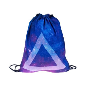 Polyester Drawstring Shopping Bag Backpack (YYDB046) pictures & photos