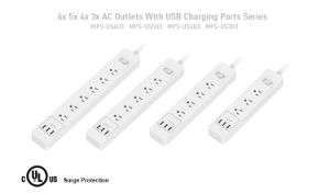 Great Design Us Extension Power Strip with 5 AC Outlet and 3 USB Output pictures & photos