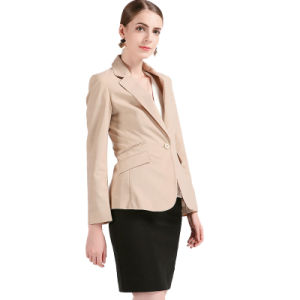 Classical Design Tr Ladies Business Suit Jacket with One-Button pictures & photos