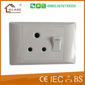 South Africa Style 1gang Switch 3round Pin 16A Plug Socket pictures & photos