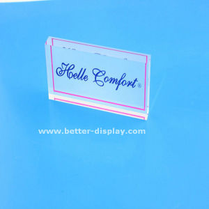 Acrylic Table Top Label Stand Crystal Nameplate (BTR-I8054) pictures & photos