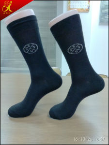 Custom Logo High Quality Men Dress Socks pictures & photos