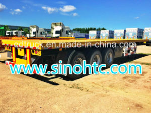 3 BPW Axles 40FT Container Flatbed Semi Trailer pictures & photos