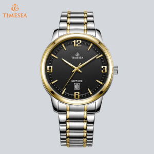 Fashion Design Water Resistant Quartz Watches with Gold Plating 72738 pictures & photos