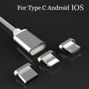 Magnetic 3 in 1 Sync Charging USB Cable for iPhone Android pictures & photos