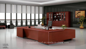 Modern Design Layout with Wooden Bookcase Executive Office Desk (HF-FB16736) pictures & photos