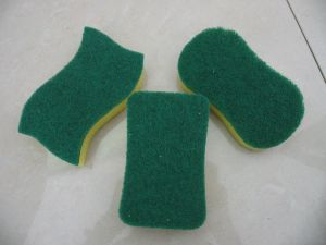 Heavy Duty Abrasive Nylon Colorful Sponge Scouring pictures & photos