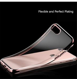 Clear Soft Transparent Electroplate TPU Case for iPhone 7 7plus pictures & photos