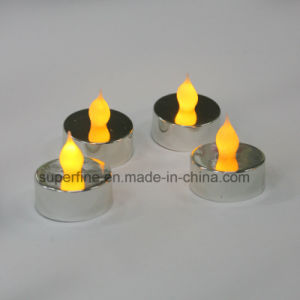 Indoor Romantic Amber Flickering Flameless Plastic LED Tealight Candle pictures & photos