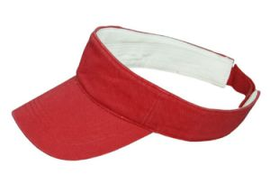 Distress Cotton Sun Visor Cap - Red pictures & photos